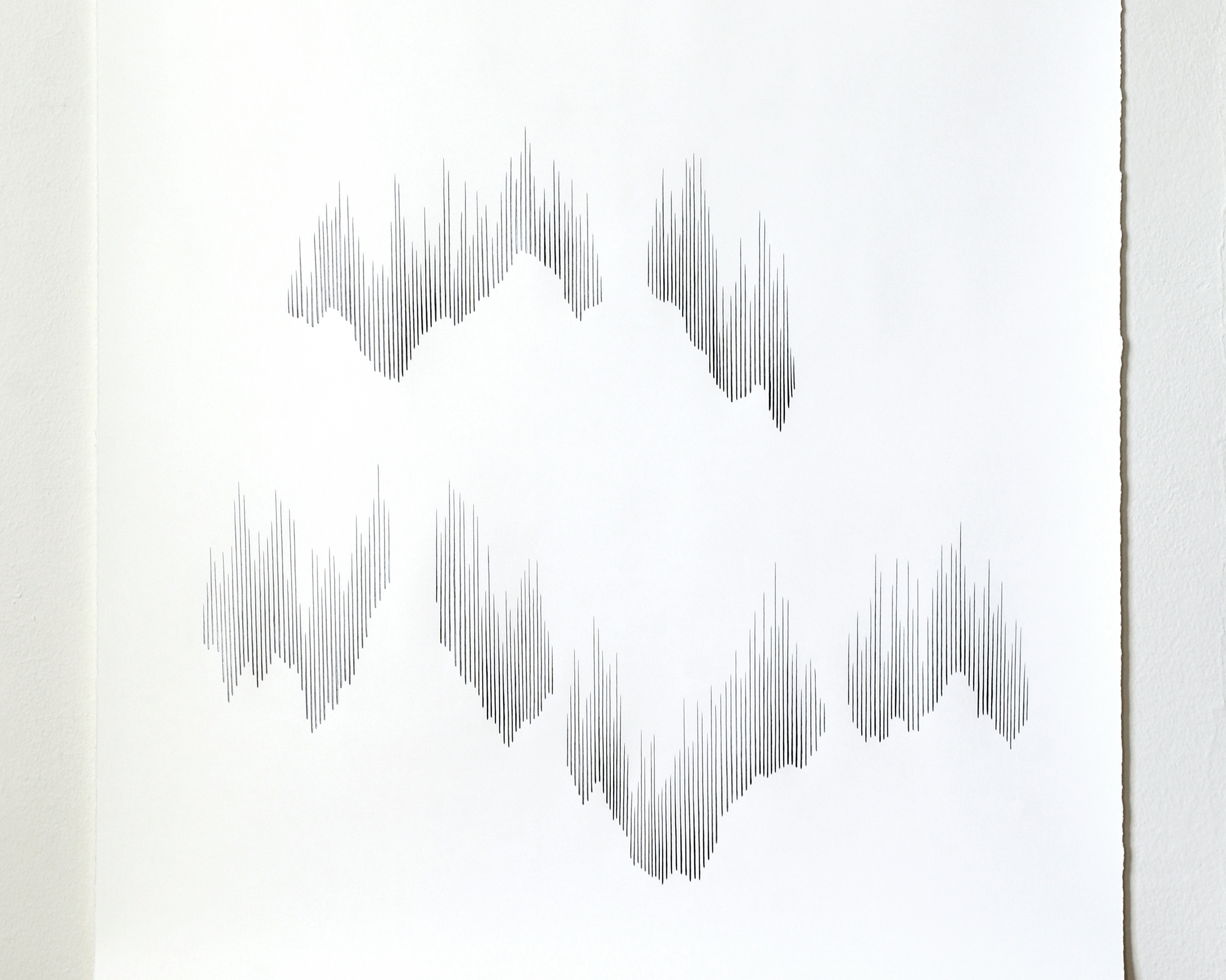 Vision Cloud/ shift , 2015, pencil on paper, 132 x 101cm