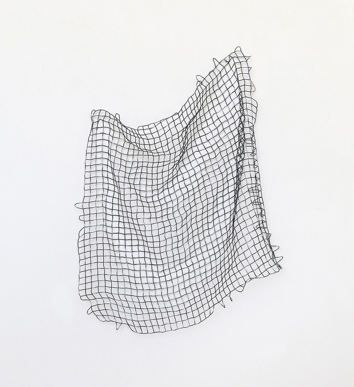 Waveland/ rutnat, 2019, bugle beads, nylon, 76 x 79 x 5cm