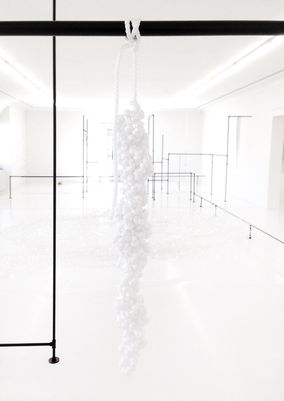Dreamcatcher II , 2019, rope, 90 x 5 x 5cm