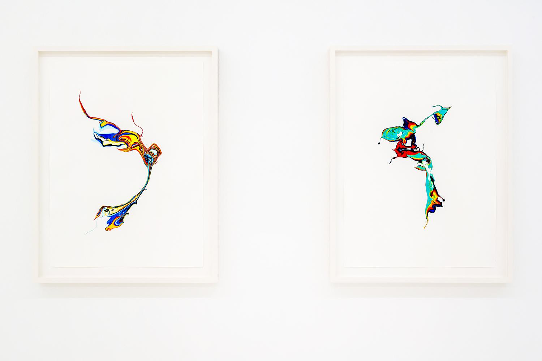 Scattered Rainbow / aelabogi, bahagari , 2019, each 40 x 30cm
