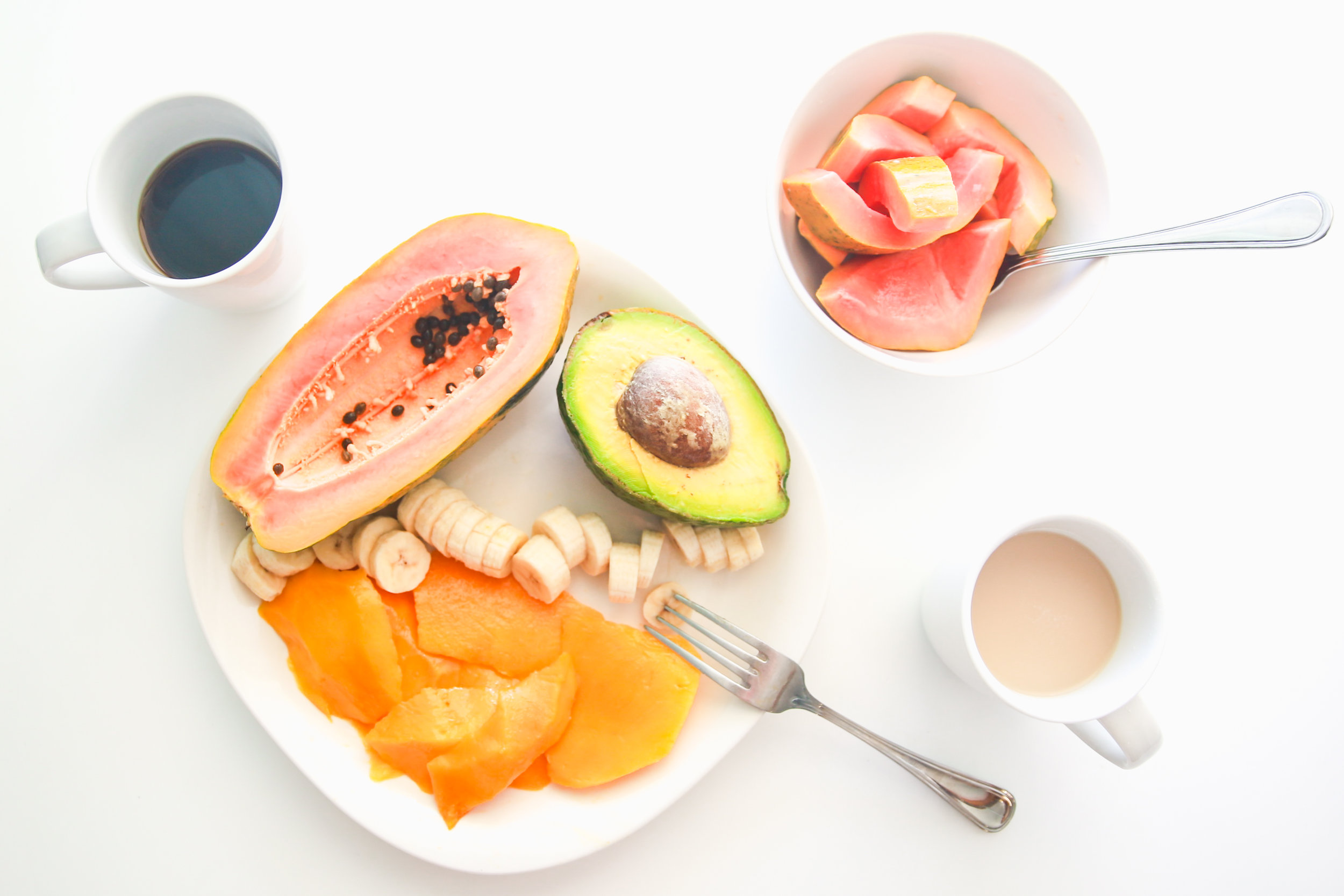 Breakfast is served! Side note, I can't live without fruit- it's my absolute favorite! Next to cheese.