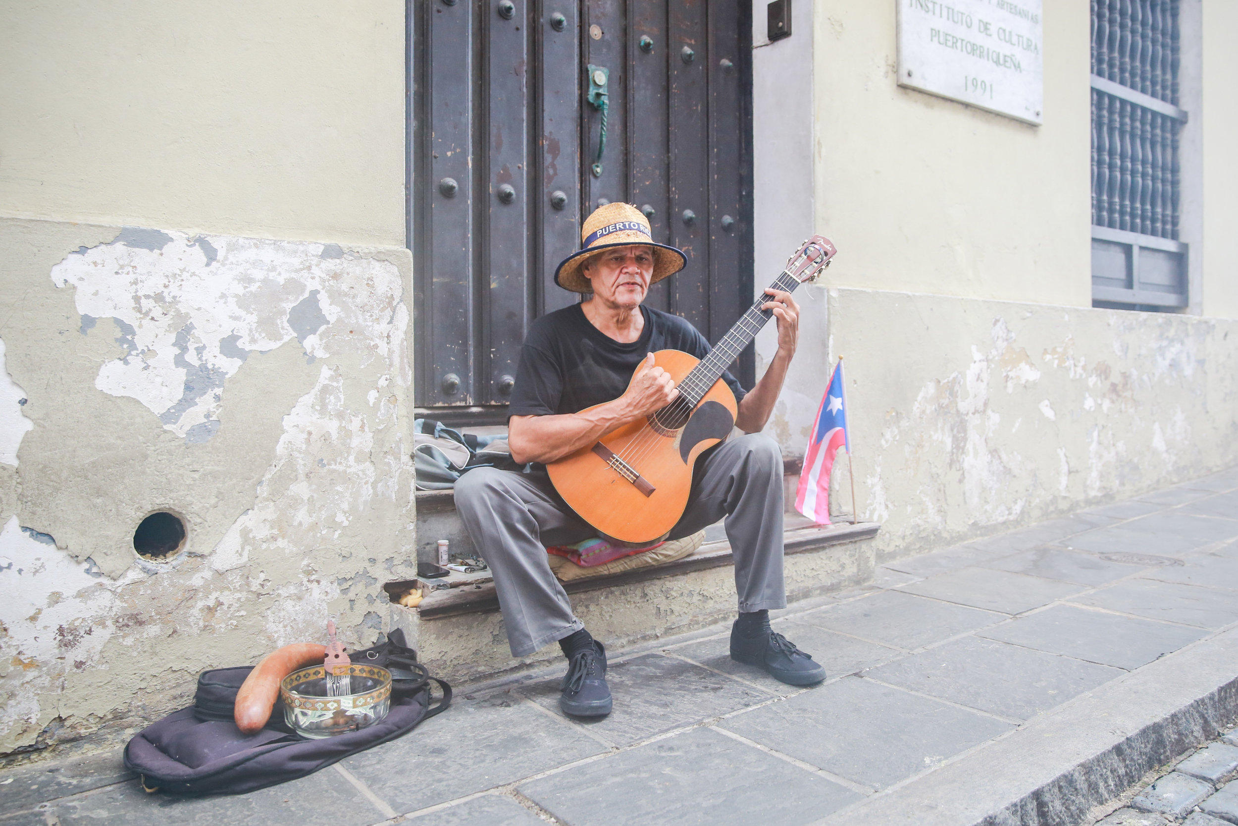 We sat outside on the street here eating Acai Bowls and listening tho this guy sing. I couldn't peel my eyes away, there was something so beautiful about his voice.