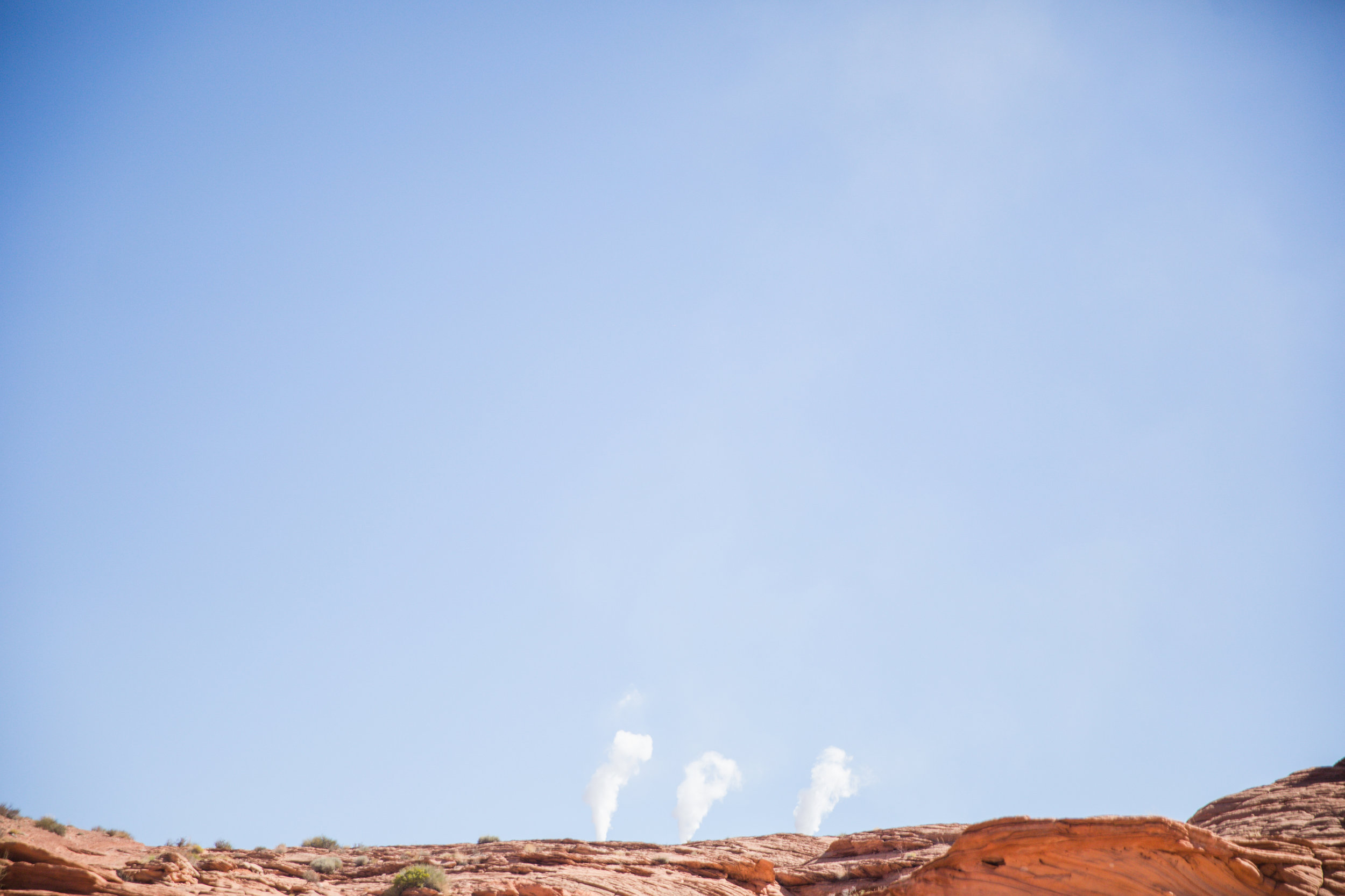 """See these smoke stacks? They mean """"I Love You"""" in Navajo. Nahhh, just kidding. I just thought they looked cool."""