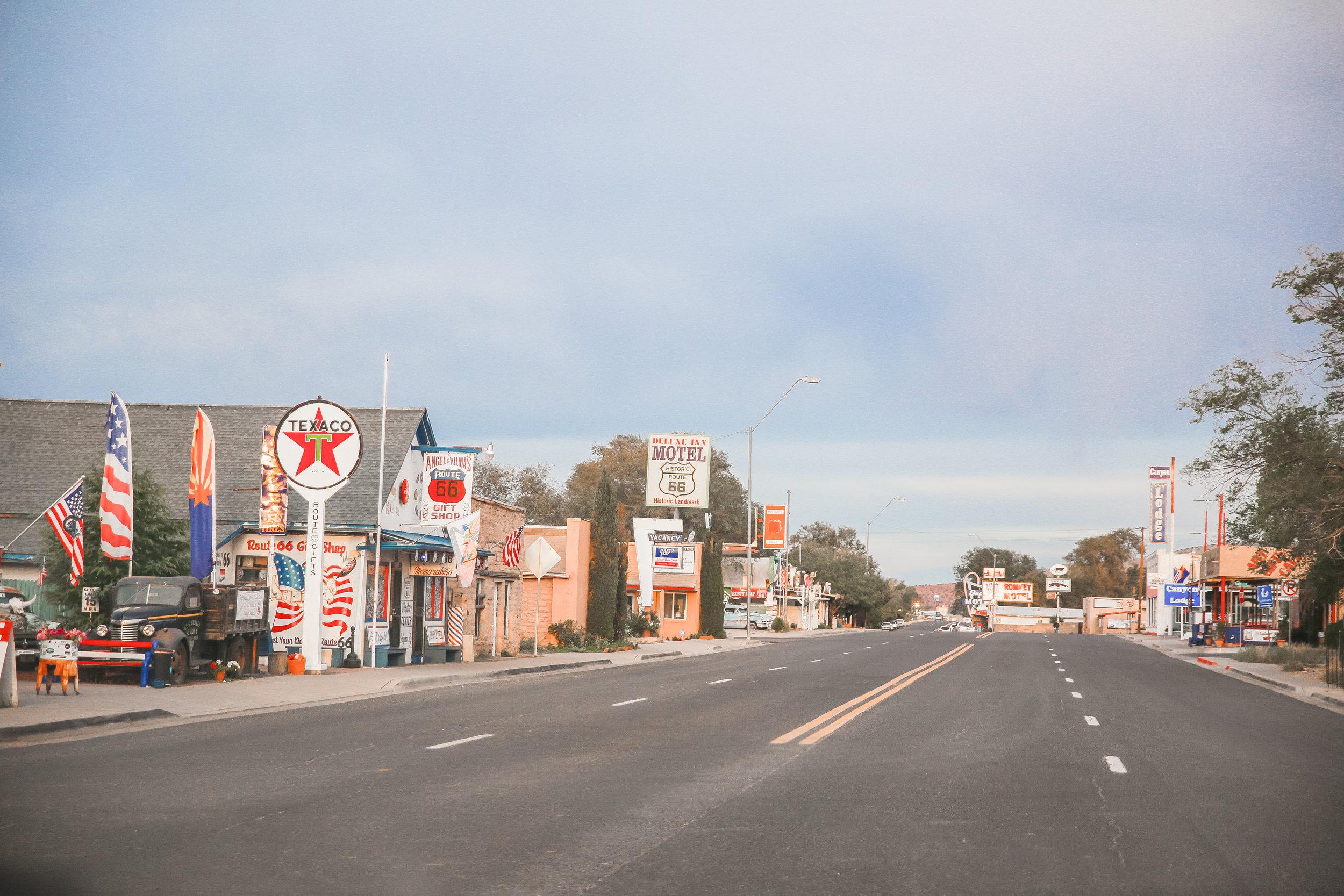 Got our kicks on Route 66.
