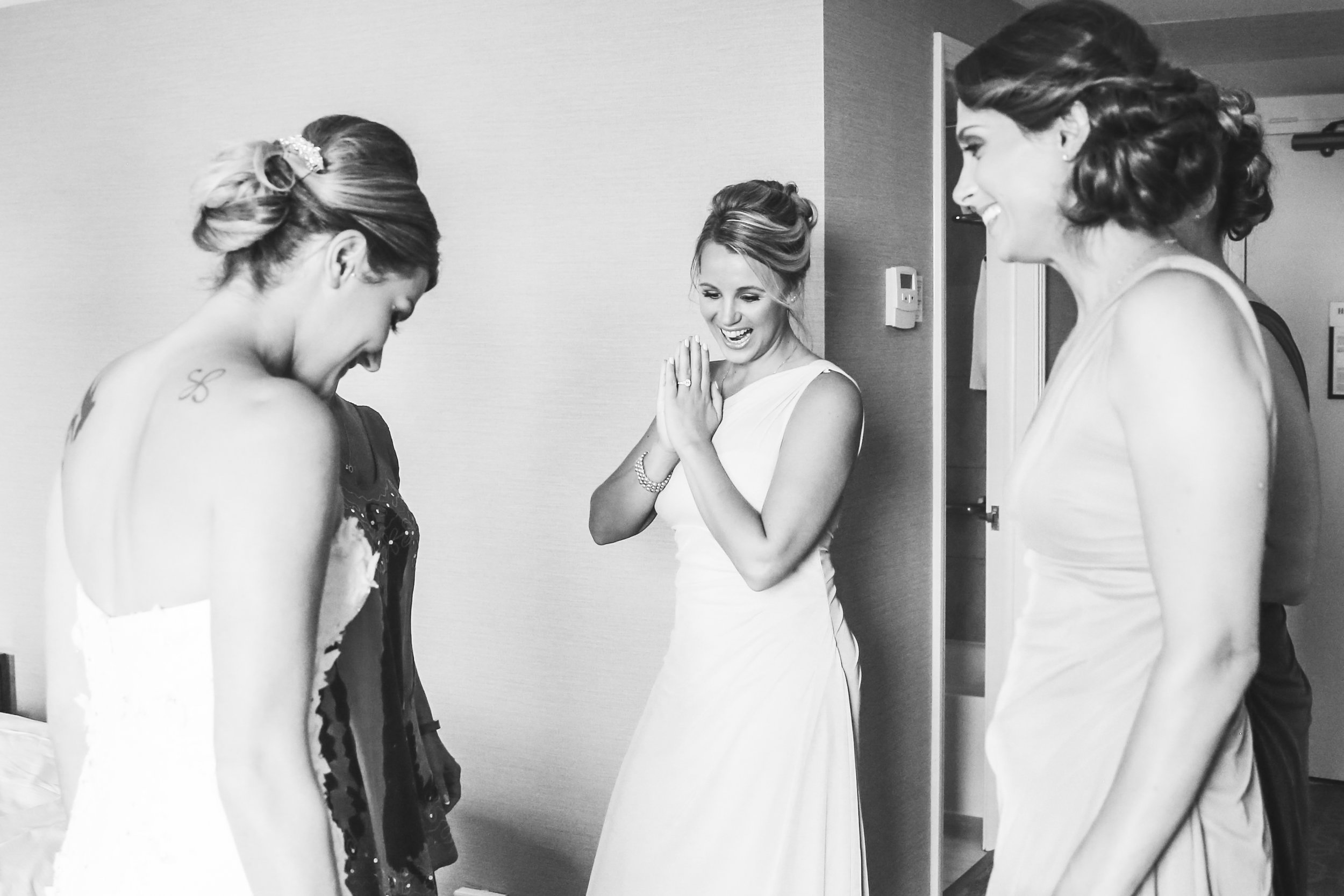 BE IN THE MOMENT! Check any personal issues at the door and help your bride in any way that you can to have the happiest day of her life.