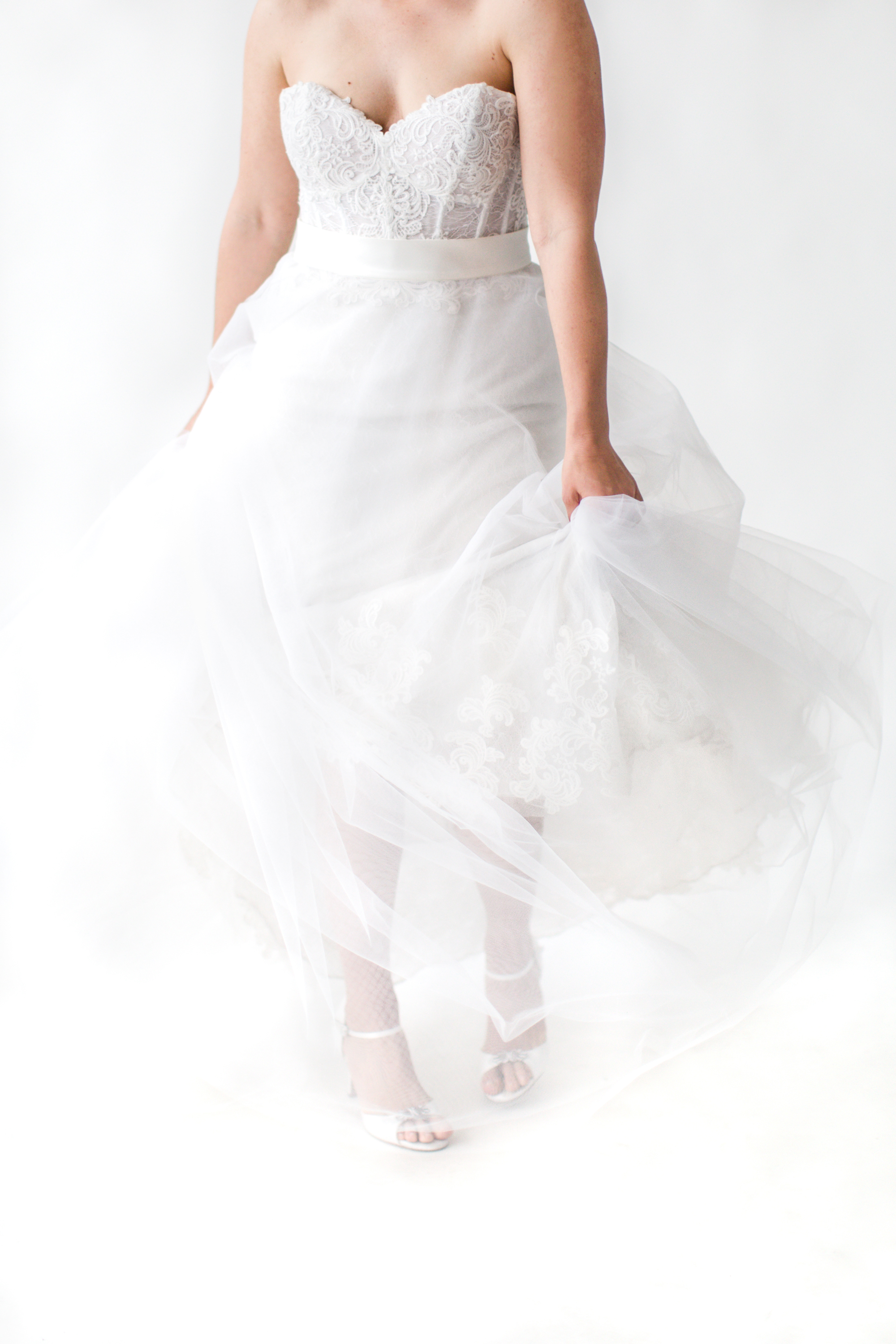 """Willowby """"Liberty"""" Gown paired with a Robert Bullock Overskirt"""
