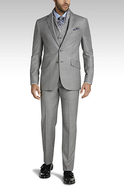 Joseph Abboud Silver Modern Fit Suit, photo courtesy of Joseph Abboud