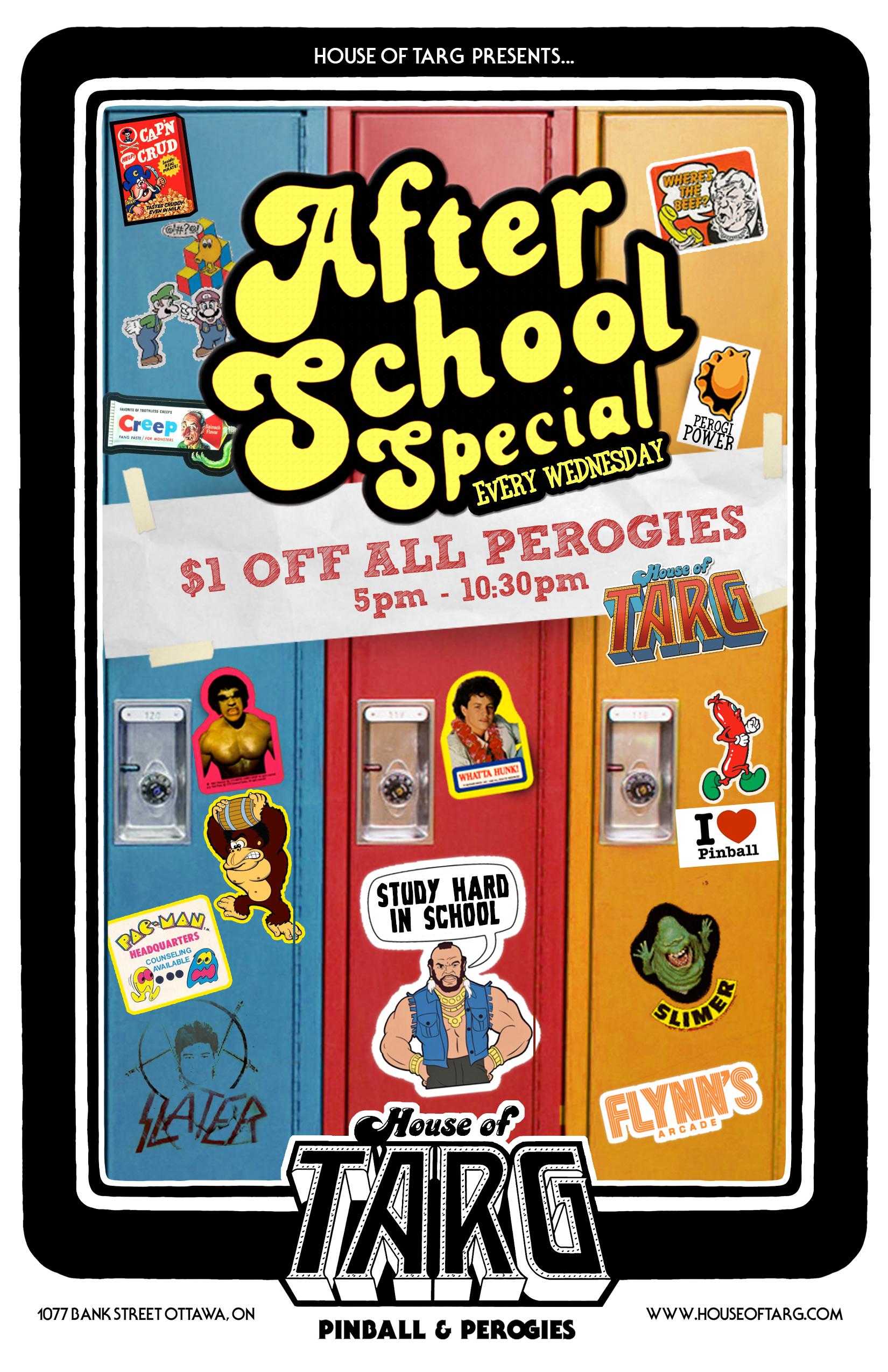 $1 Off Perogies 5pm - 10:30pm
