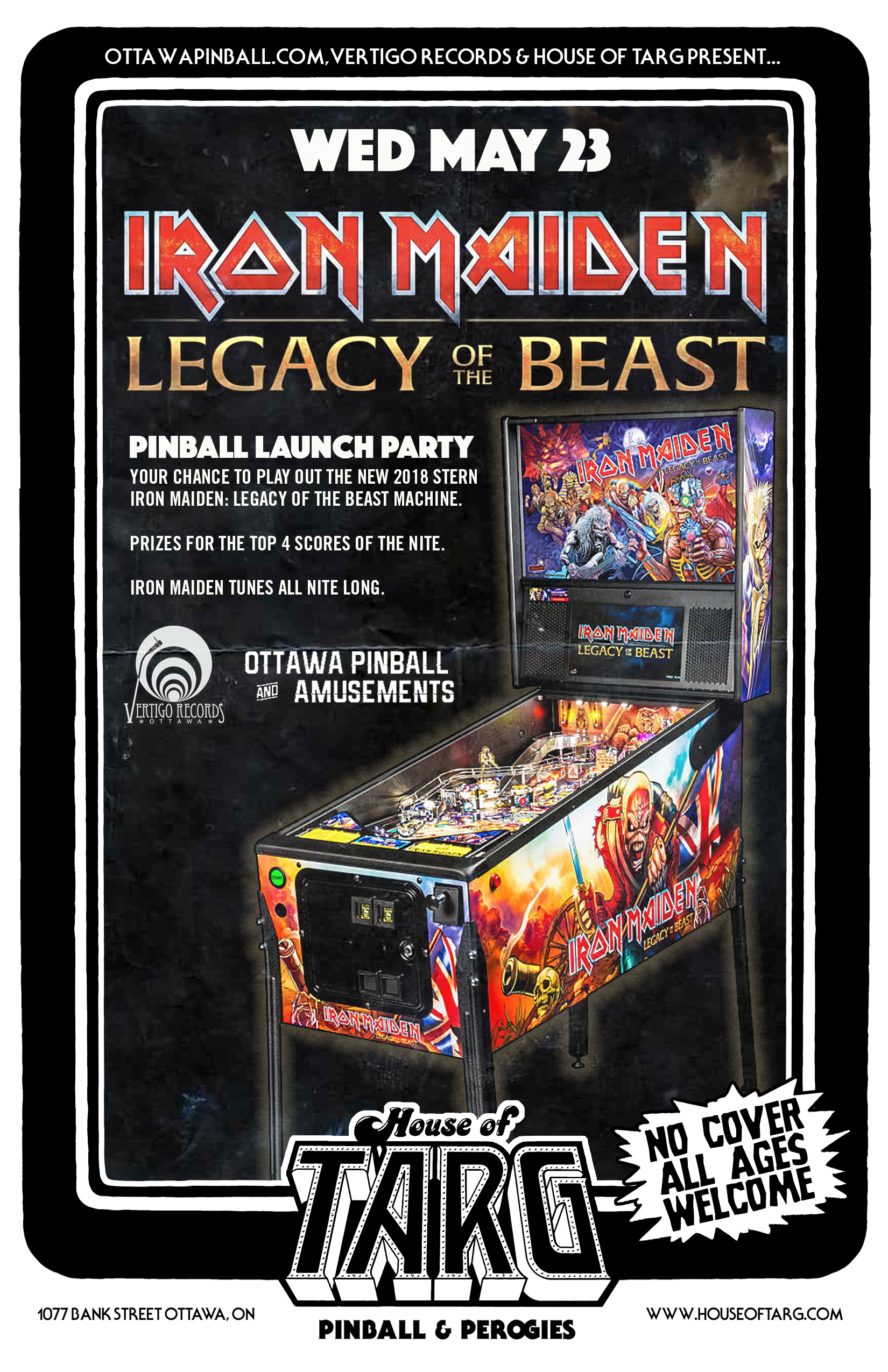 IRON MAIDEN: Legacy of The Beast Pinball Launch Party