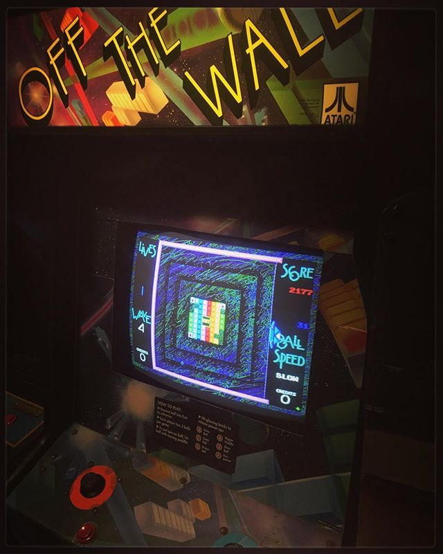 *NEW GAME ALERT!* Produced by @atari games and released in North America in 1991 OFF THE WALL is a remake of BREAKOUT featuring more complex gameplay and modelling spin on the ball - try out this super fun game on your next visit!! 🙂👾🙂 #ottawa #pinball #perogies #classic #arcade #retro #gaming #fun #handmade #food #restaurant #vegan #options #events #shows #bands #music #community #love #nevergiveup