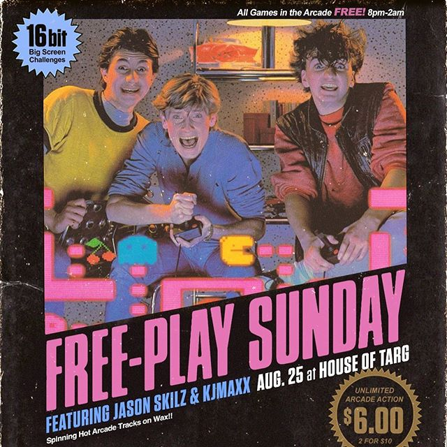 TONIGHT! Doors@8pm for FREEPLAY SUNDAYS - join us 🙂👾🙂 🕹️ All PINBALL and ARCADE GAMES are FREE until 2am!! 🕹️ DJ KJMAXX and guests spinning arcade jams on WAX!! 🕹️ SNES multi-player COUCH CHALLENGE!! 🕹️ DRINK DEAL!! $5 Jagermeister shots!! 🕹️ Handmade PEROGIES served LATE!! #ottawa #pinball #perogies #classic #arcade #retro #gaming #fun #handmade #food #restaurant #vegan #options #events #shows #bands #music #community #love #nevergiveup