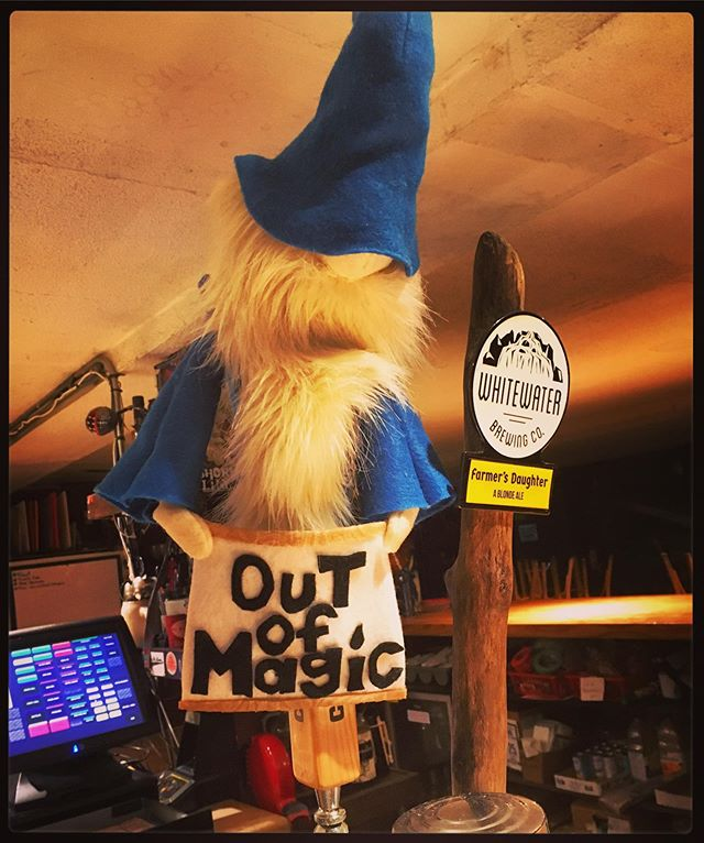 Huge thanks to TARG perogi #wizard @bigoldpupper for creating our first #outofmagic wizard tap puppet!! Having a bit of trouble coming up with a suitably magical name for this fine fella - suggestions welcome!! 🙂👾🙂 #ottawa #pinball #perogies #classic #arcade #retro #gaming #fun #handmade #food #restaurant #vegan #options #events #shows #bands #music #puppet #community #love #nevergiveup