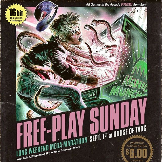 TONIGHT!!! Doors@8pm for a special #longweekend edition of FREEPLAY SUNDAYS with your host DJ @kjmaxxgraphix and guests spinnin' vinyl gems, classic 2 player SNES action in the lounge, drink specials at the bar and delicious handmade perogies served late - join us!!! 🙂👾🙂 #ottawa #pinball #perogies #classic #arcade #retro #gaming #fun #handmade #food #restaurant #vegan #options #events #shows #bands #music #community #love #nevergiveup