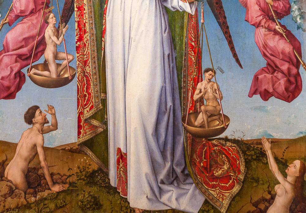 Polyptique du jugement dernier de Rogier van der Weyden (détail)