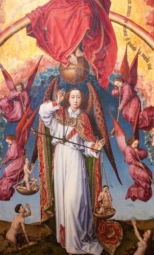 Polyptique du jugement dernier de Rogier van der Weyden (panneau central)