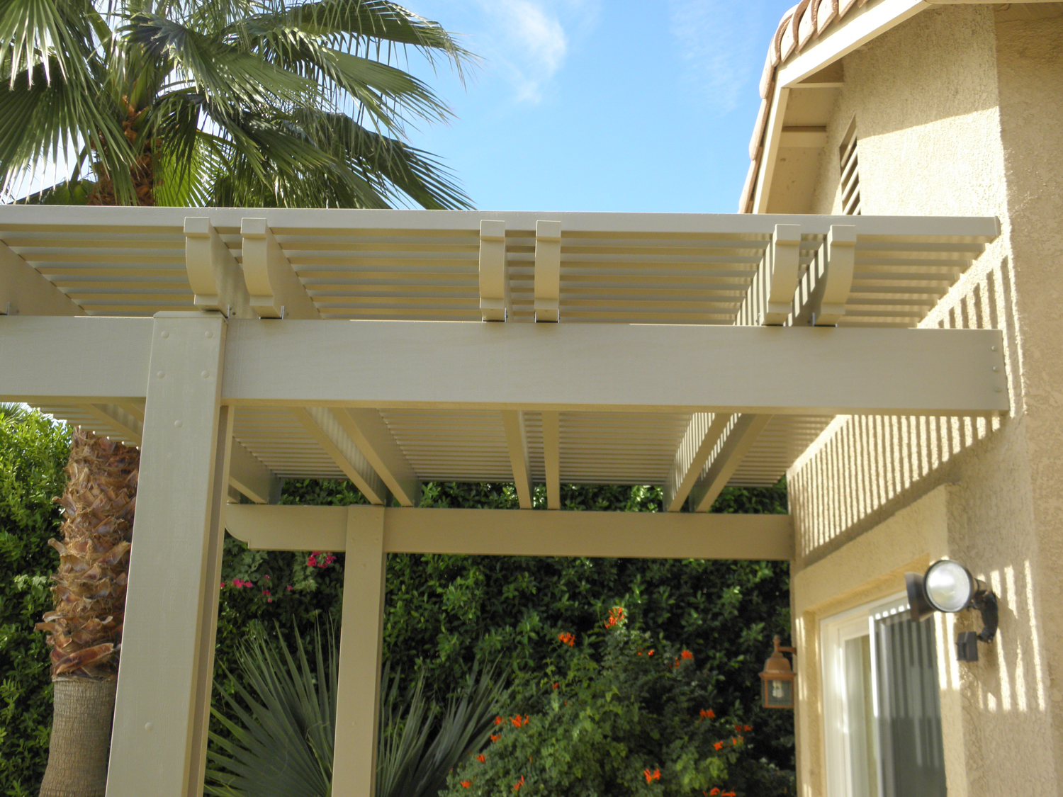 Lattice Patio Cover, Palm Springs CA
