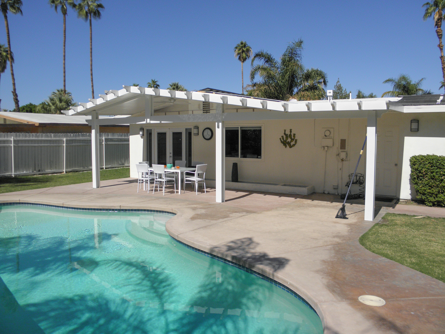 Gable Roof Solid Patio Cover, Palm Desert 92260