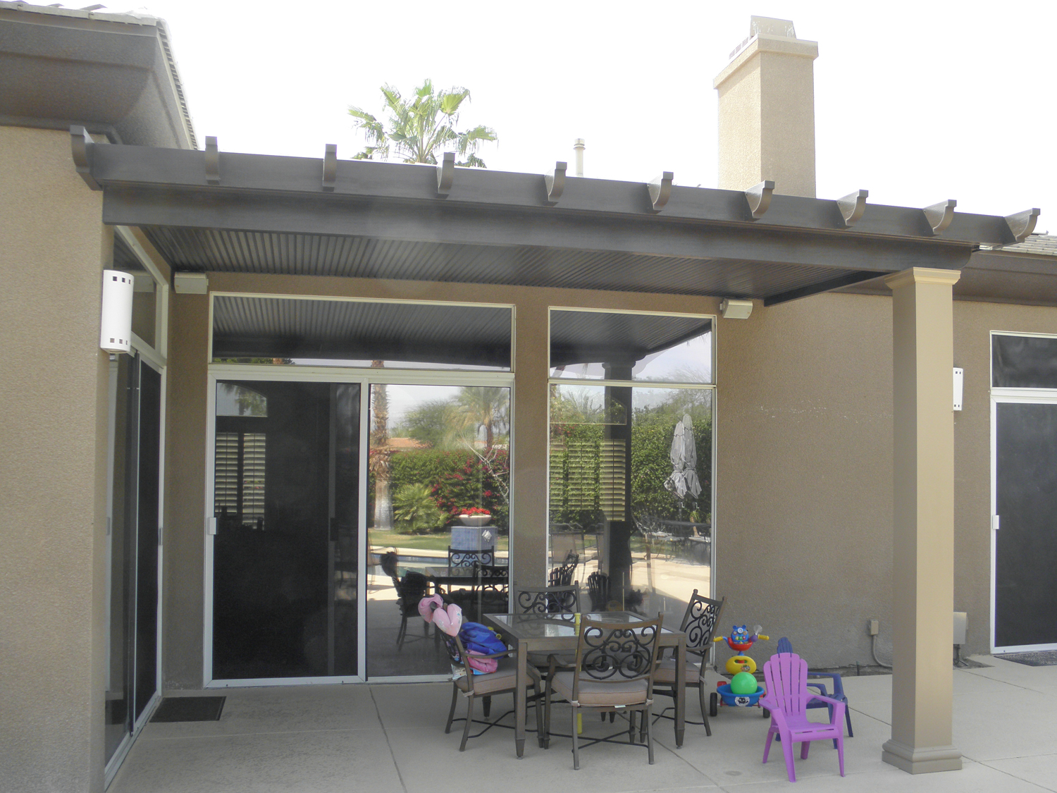 Full Roof Solid Patio Cover, Indio, CA