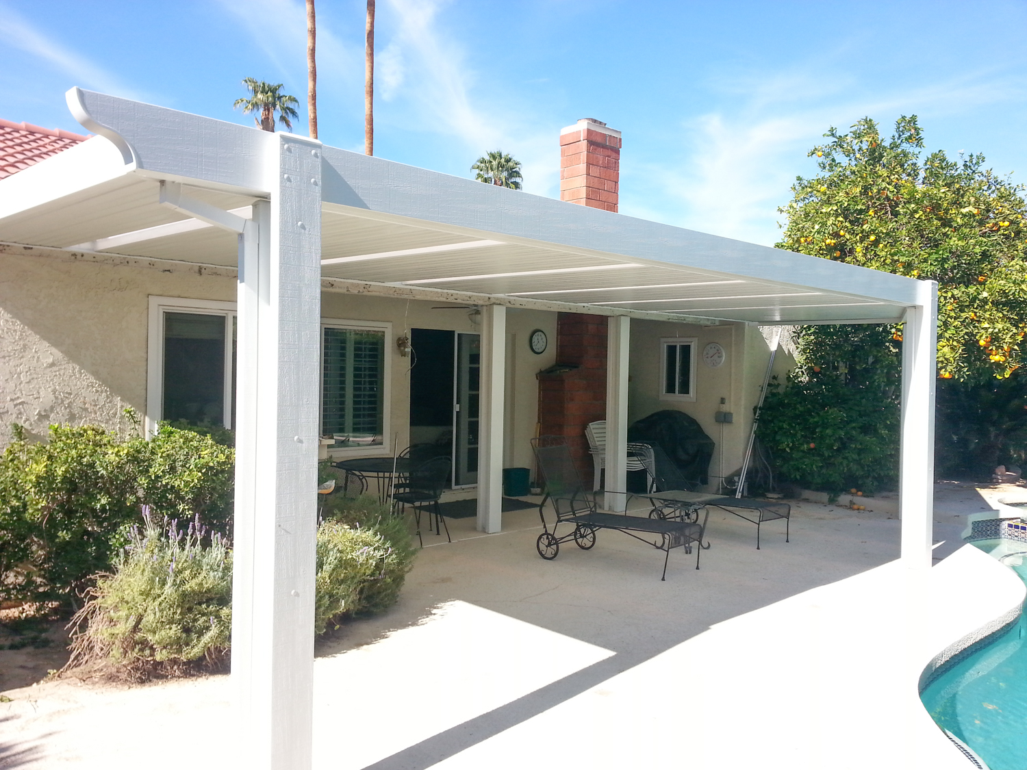 Full Solid Roof Patio Cover, Palm Desert, CA