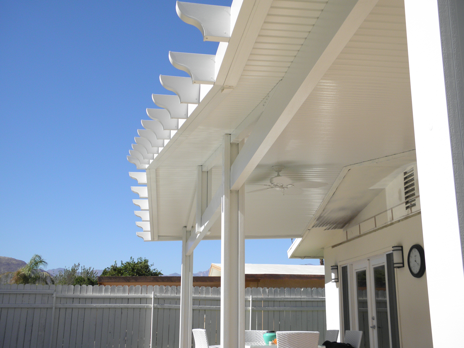 Solid Roof Gable Patio Cover, 92260