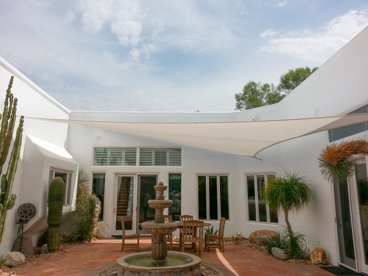 Courtyard Shade Sail, Indian Wells, CA 92210