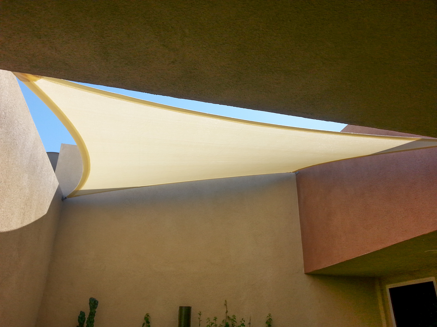 Perfectly Cut Shade Sail to Custom Fit Patio, Rancho Mirage, CA, 92270