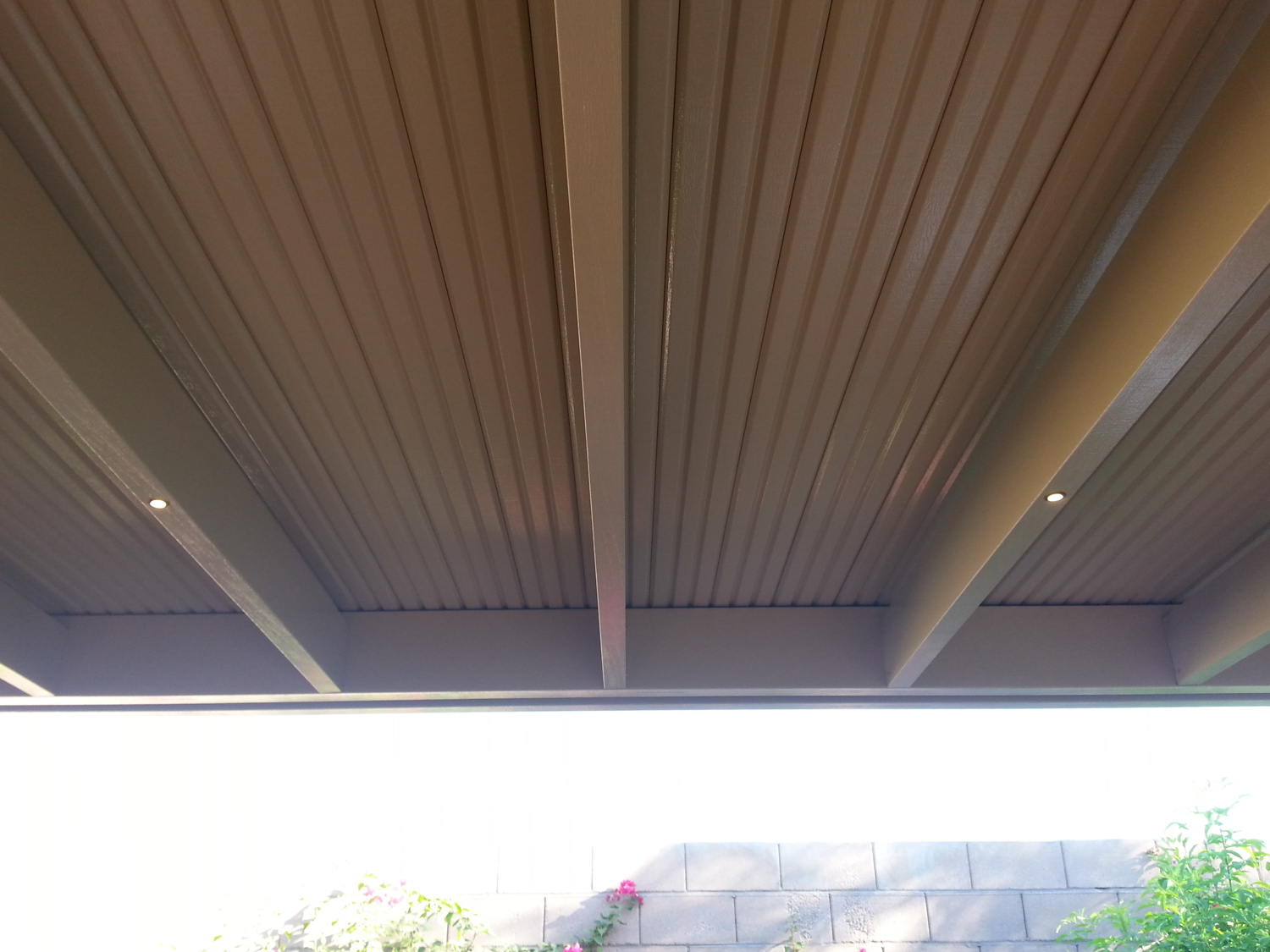 Low Voltage LED Lighting On Solid Patio Cover, Indio, CA 92203