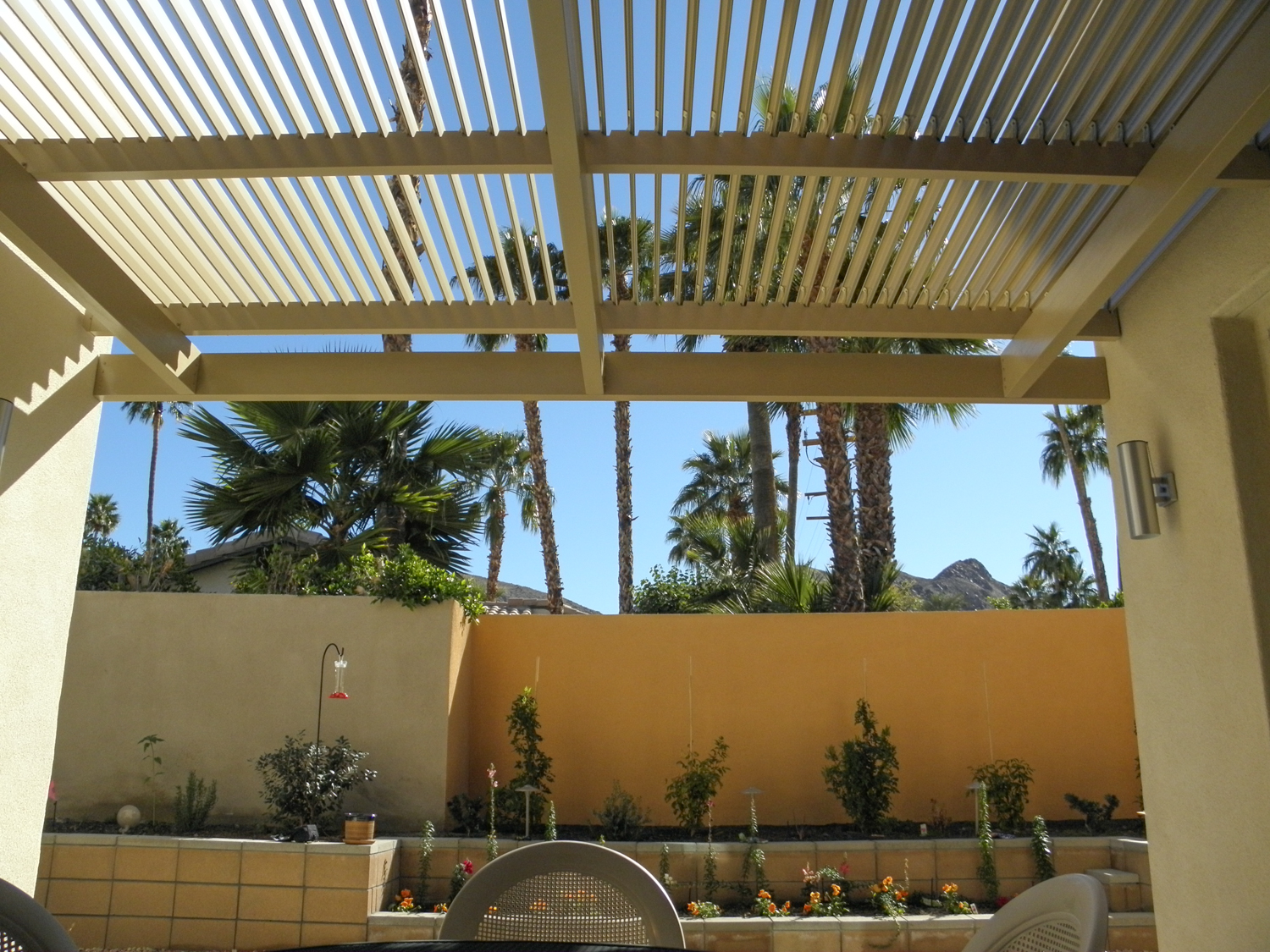 Solara Adjustable Patio Cover, Louvered Roof System, Palm Springs, CA 92262 and 92264