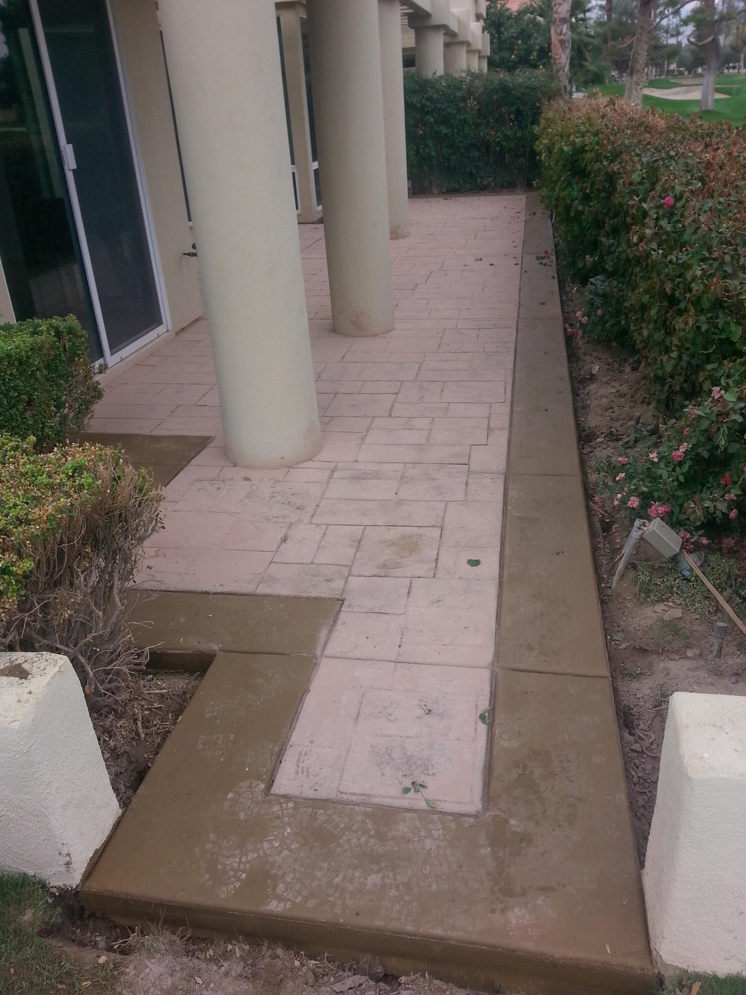 Stamped Concrete in-Progress, Indian Wells, CA, 92210