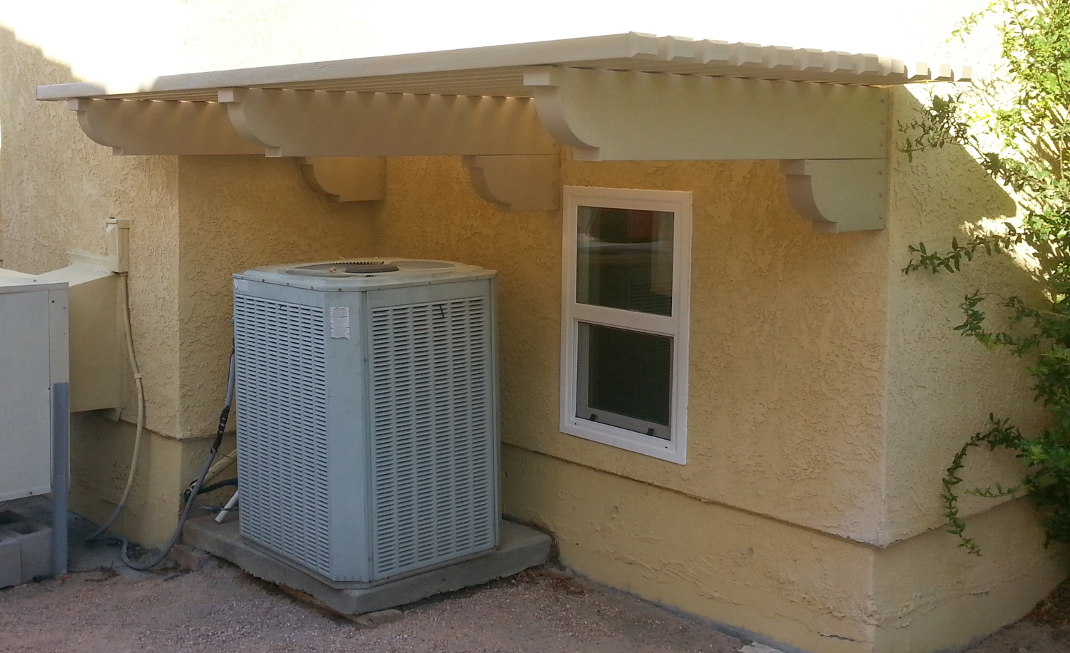 Patio Awning for Air Conditioning Unit, Indio, CA 92203