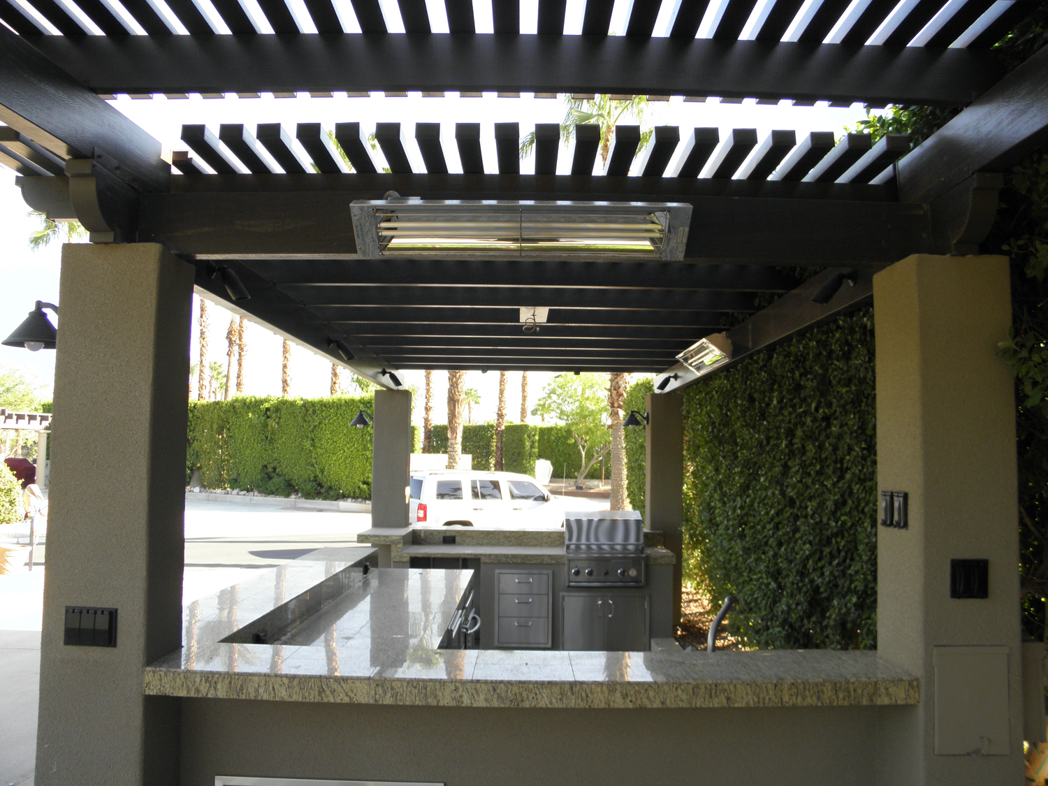 Custom Freestanding Patio Cover with Lights, Heater, Fan in Rancho Mirage, CA 92270