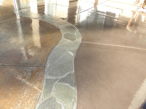 Custom Patio with Flagstone Border, La Quinta, CA, 92253
