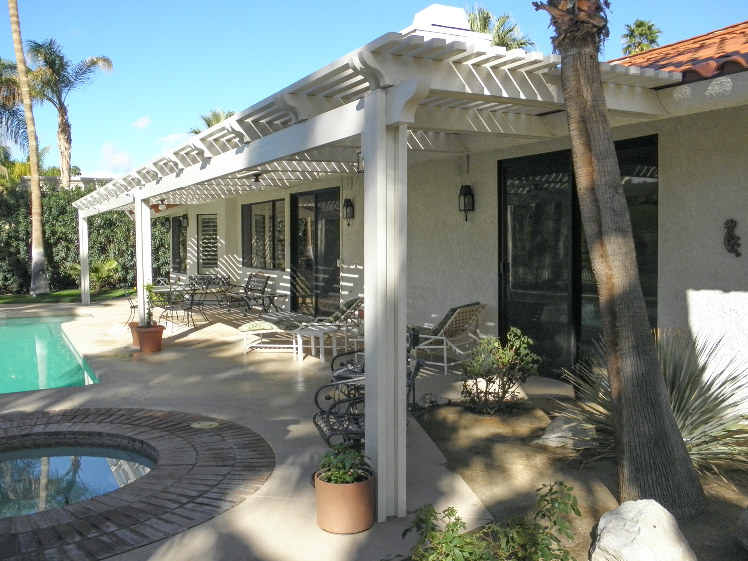 Lattice Back Patio Cover, Rancho Mirage, CA, 92270