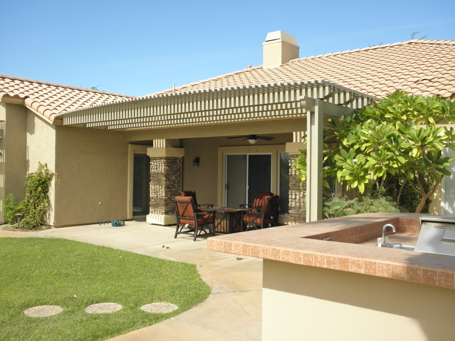 Custom Lattice Patio Cover in Rancho Mirage, CA