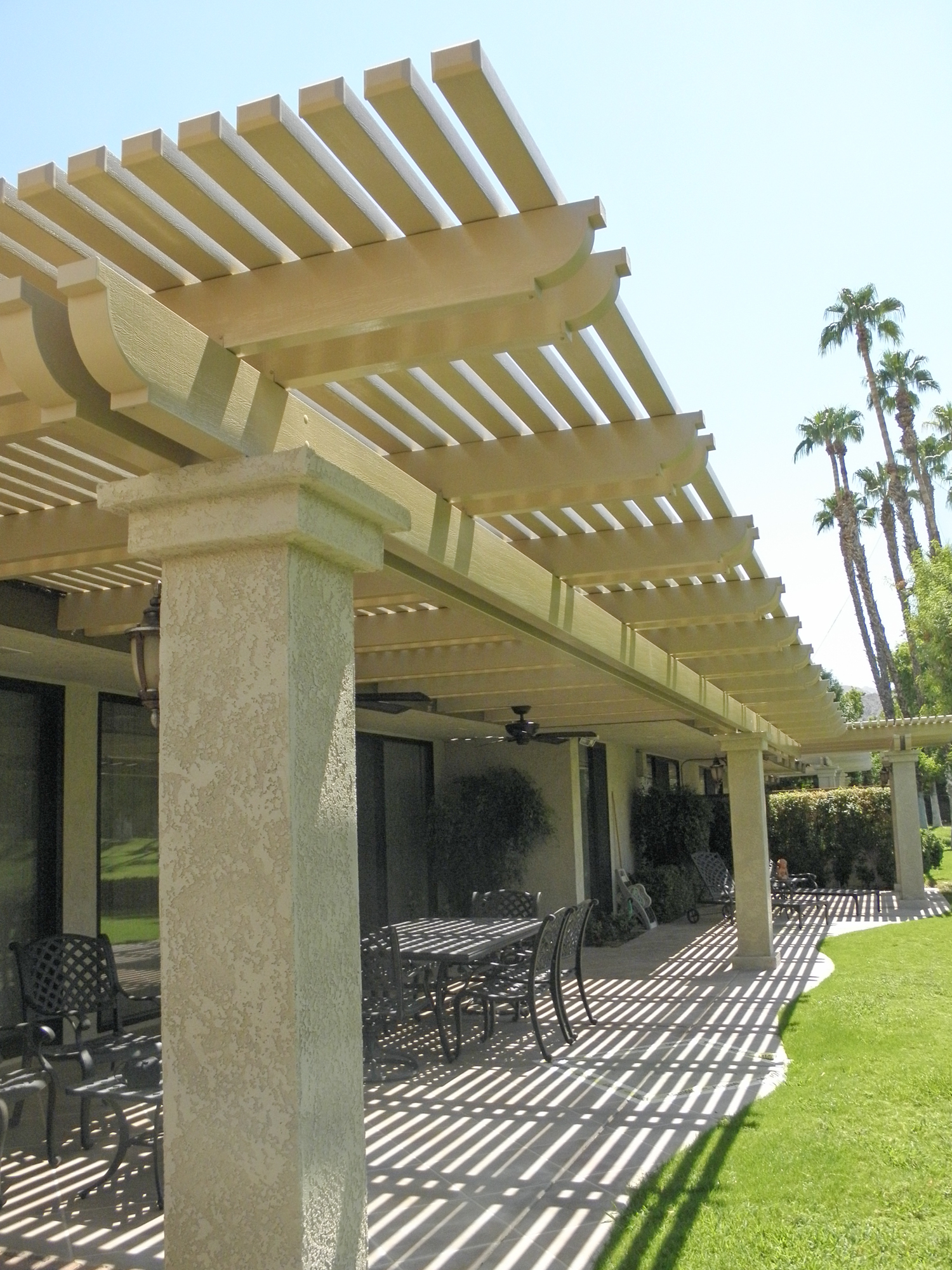 Split Level Lattice Patio Cover, Cathedral City, CA