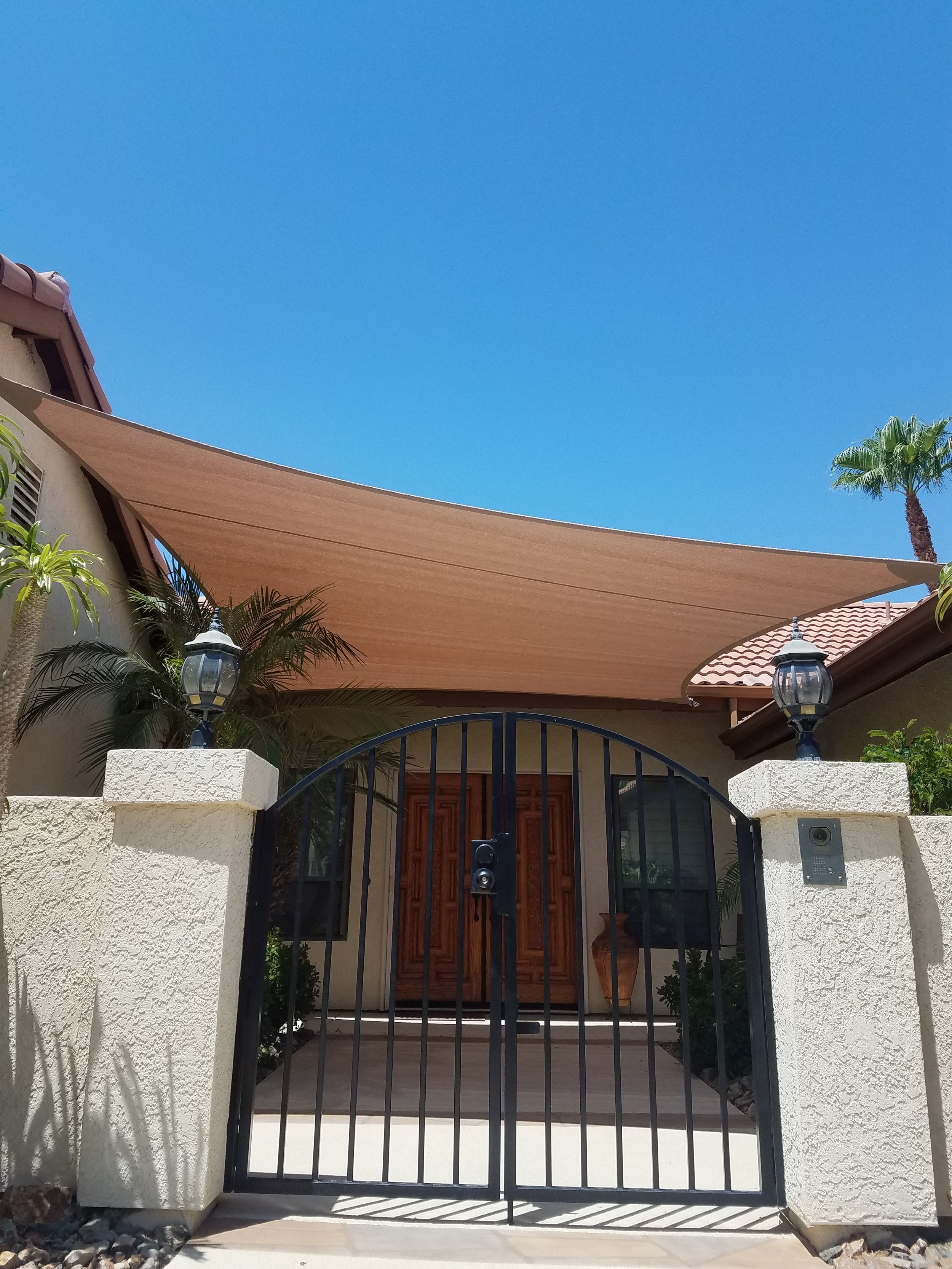 Courtyard shade sail fabric Palm Desert, 92260