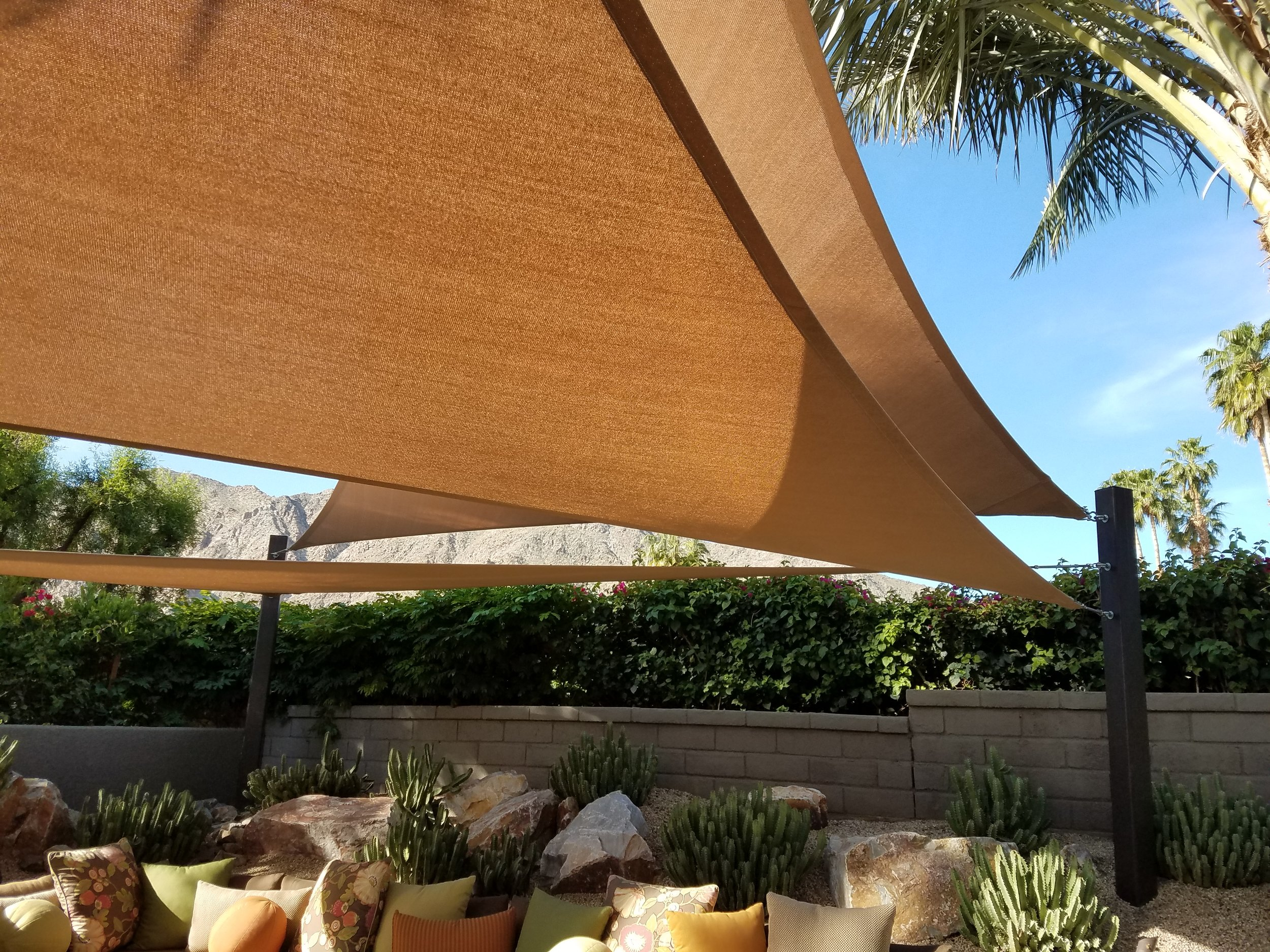 Layered tension shade canopies Indian Wells, 92210