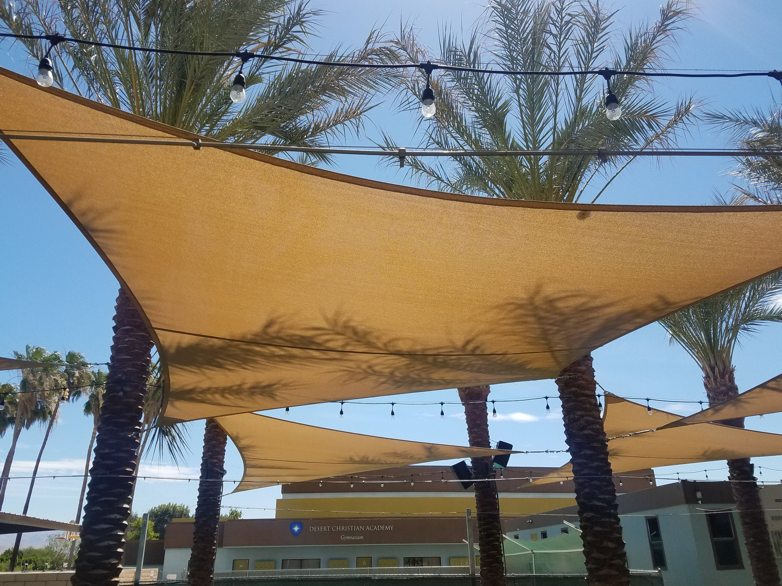 Custom shade structure for elementary school