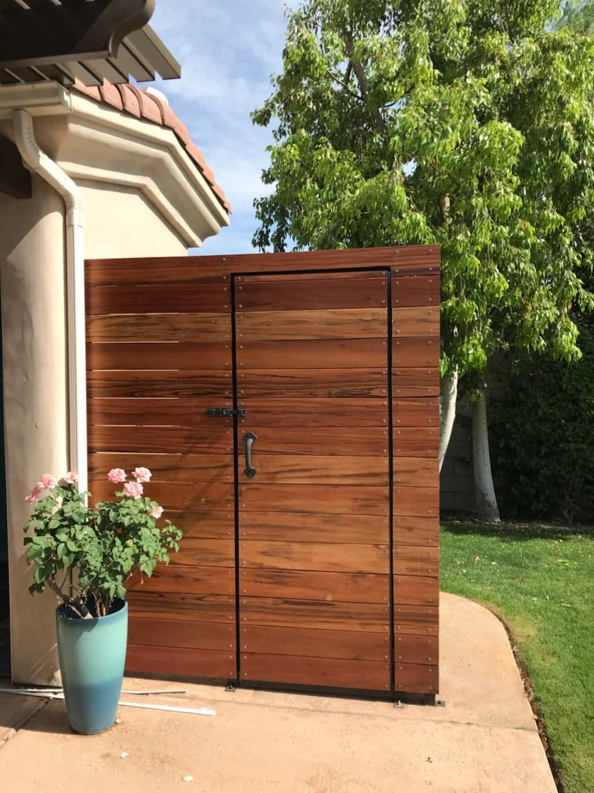 Custom outdoor shower enclosure