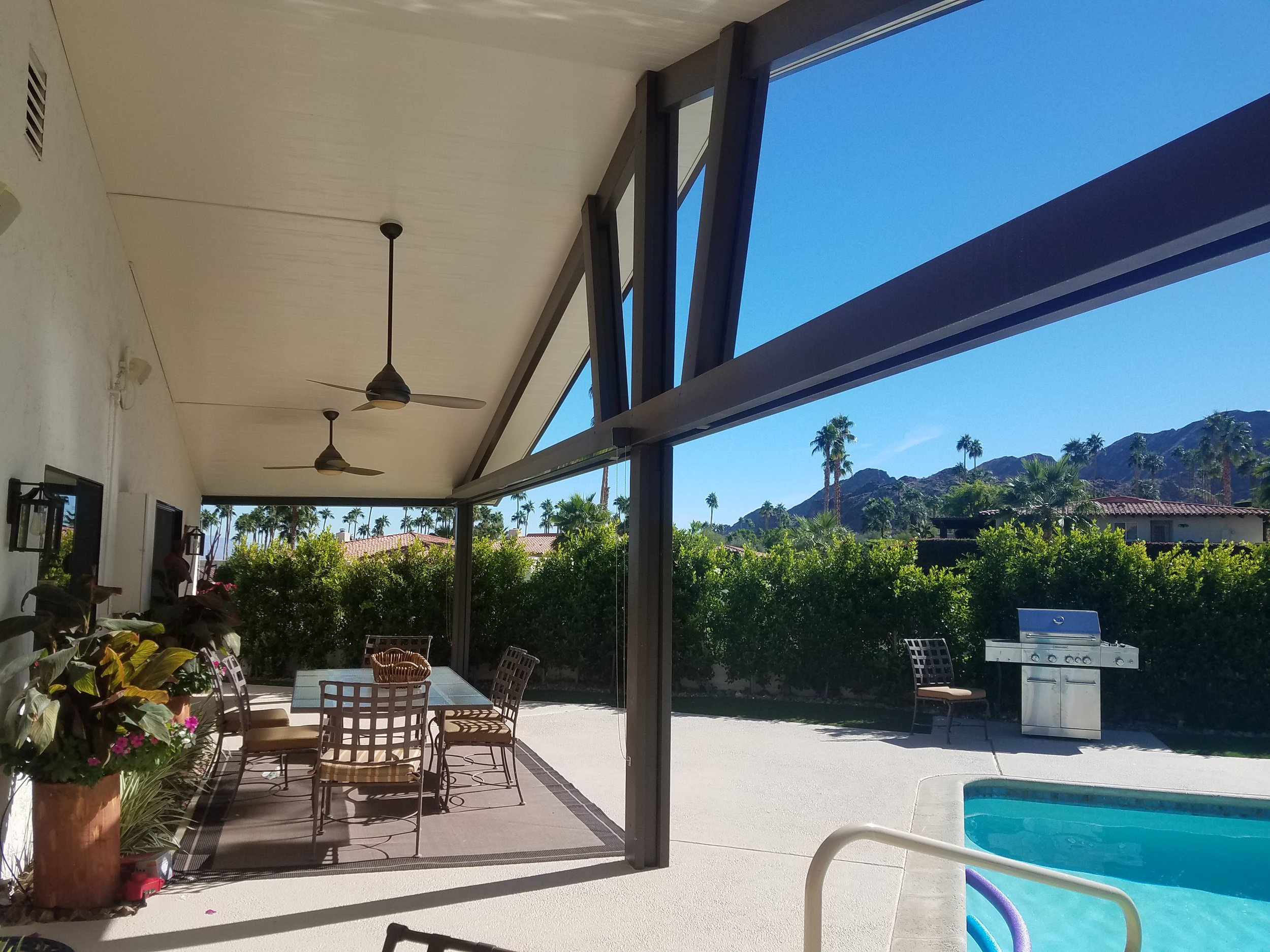 Insulated solid roof patio cover in Yucaipa, CA