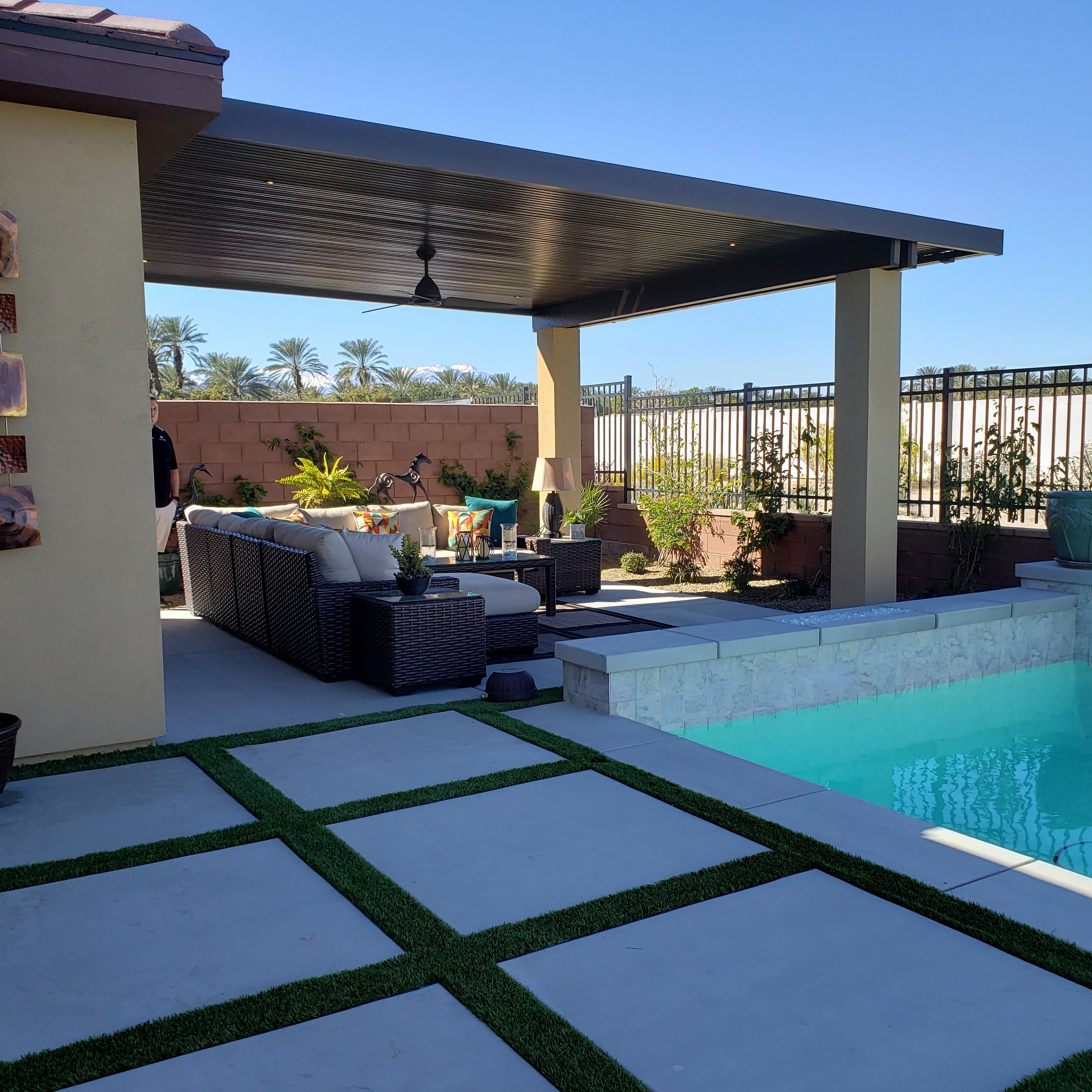 Yucaipa solid roof patio cover