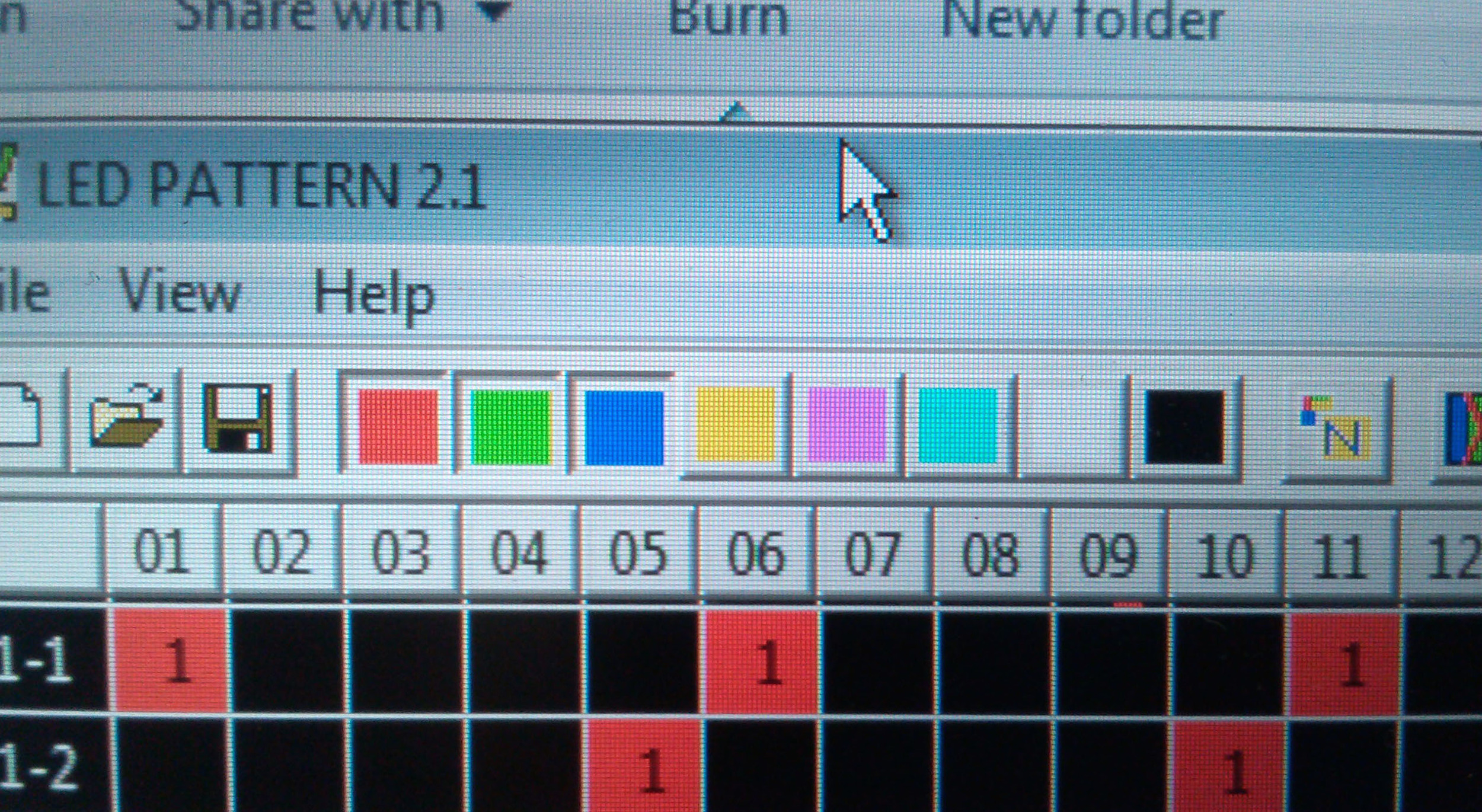 software color selections