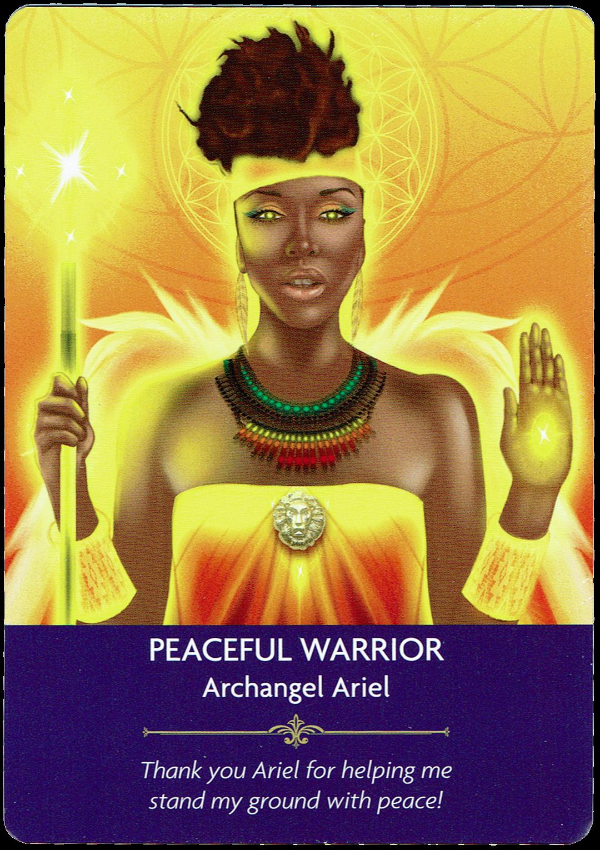 Peaceful Warrior - Archangel Ariel - Angel Prayers Oracle