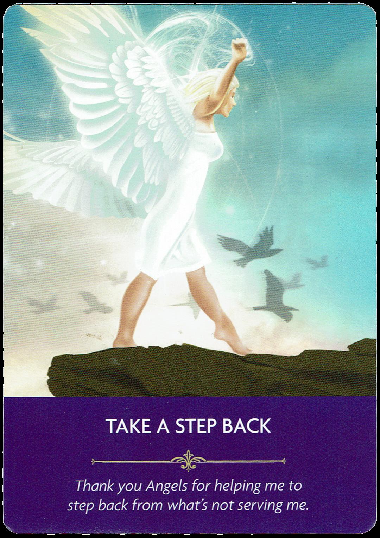 Take a Step Back - Angel Prayers Oracle