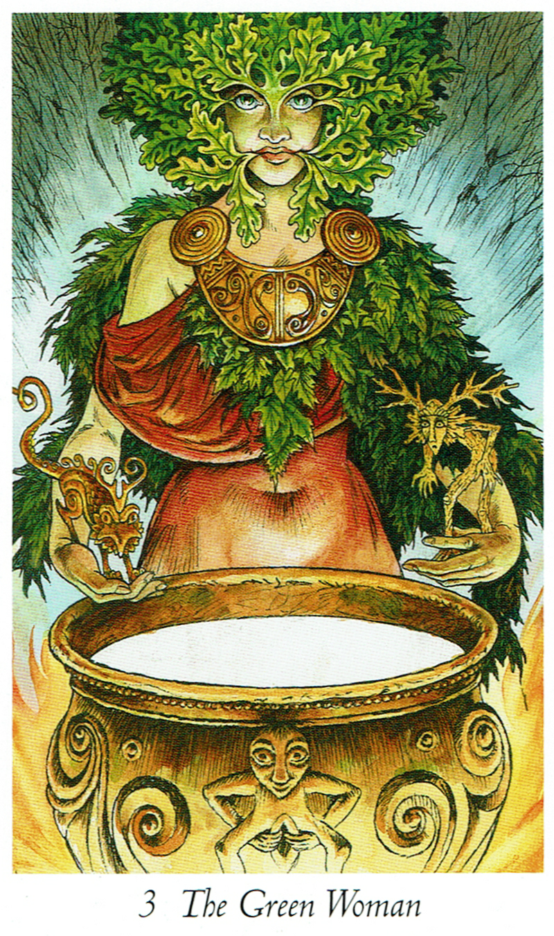 The Green Woman from Wildwood Tarot