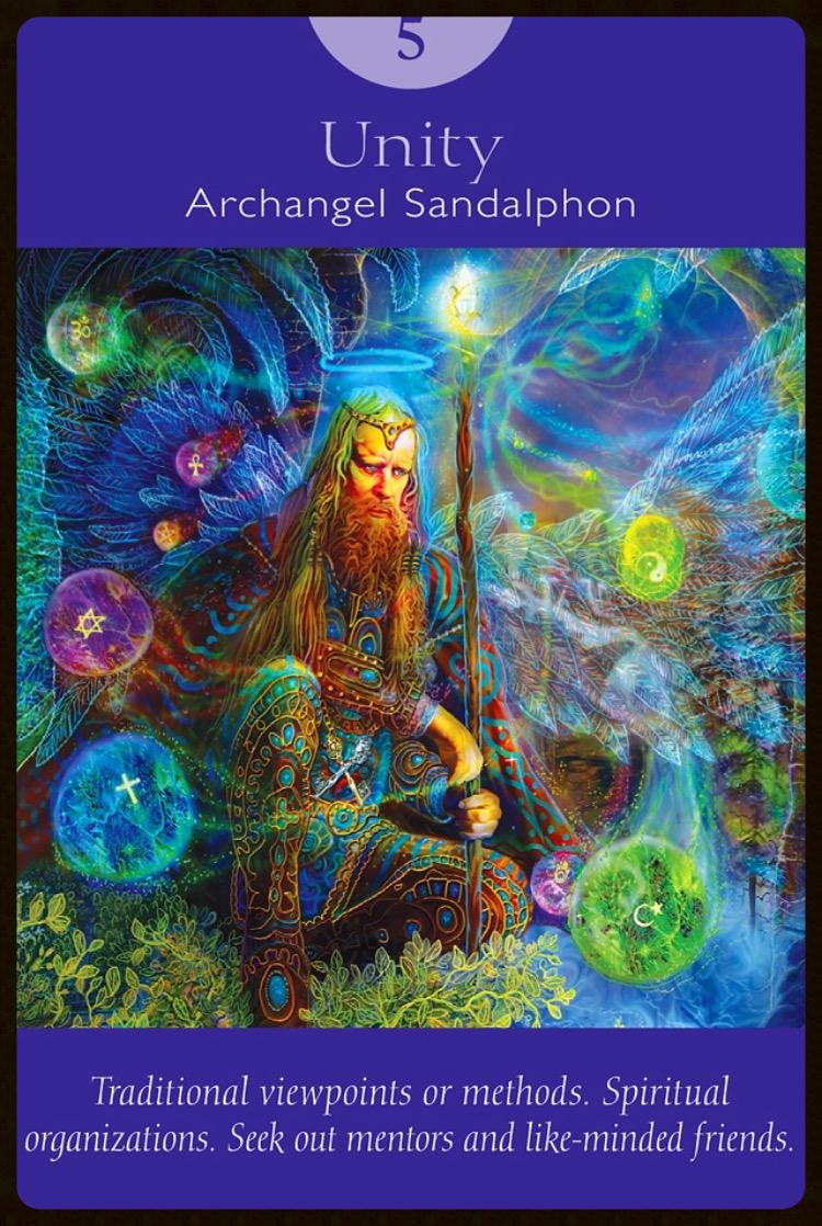 Unity ~ Archangel Sandalphon from The Angel Tarot