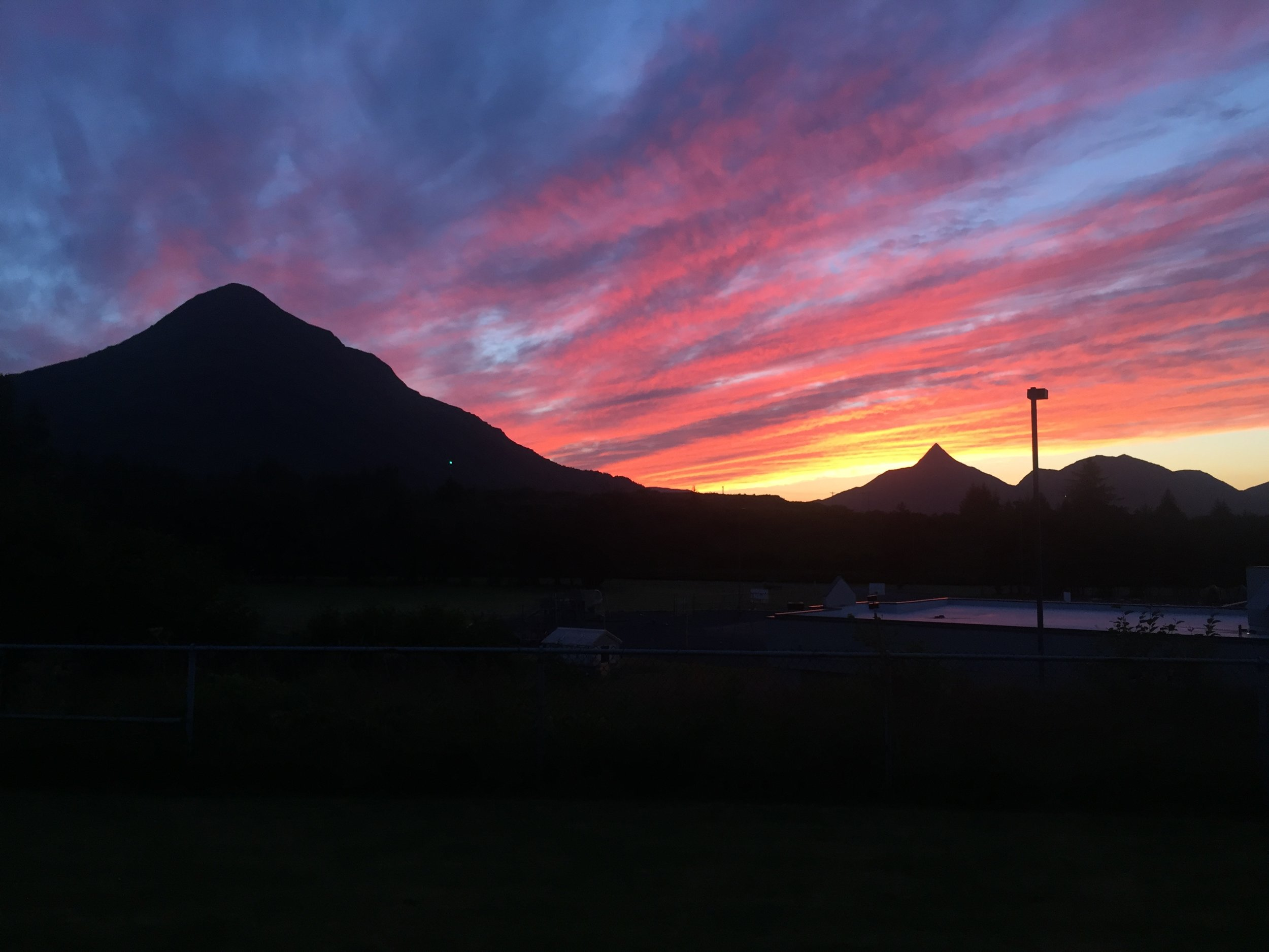 Sunset @Barometer Mountain Kodiak, AK