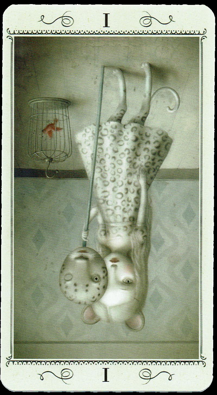 The Magician Reversed from Ceccoli Tarot