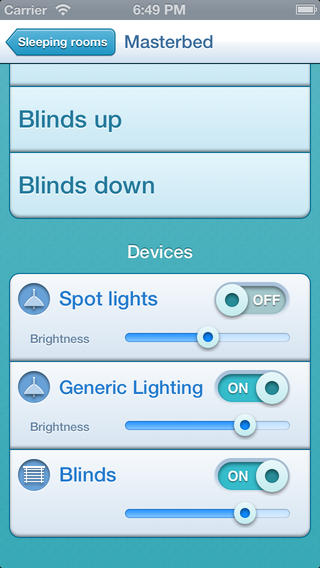 Control home lighting via phone or smart device