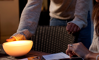 Philips Hue lighting controlled by Dynalite